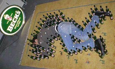 beer crime scene