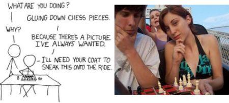 xkcd chess coaster