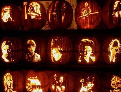 Cinematic pumpkin carving