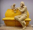 clay model of Jim Henson/Kermit UMD statue