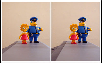 Lisa and Chief Wiggum Stereograph