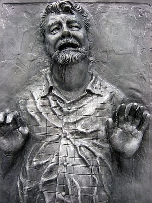 George Lucas encased in Carbonite