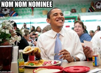 Obama Nom Nom Nominee