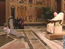 Pope admires breakdancers