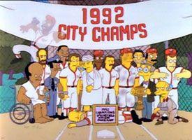 Simpsons softball team