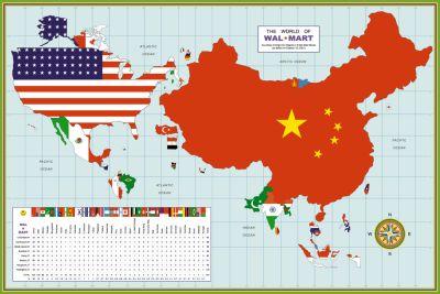 Wal Mart map