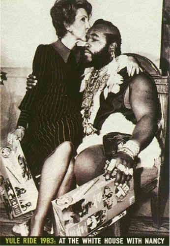 Mr. T and First Lady Nancy Reagan