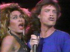 Tina Turner and Mick Jagger